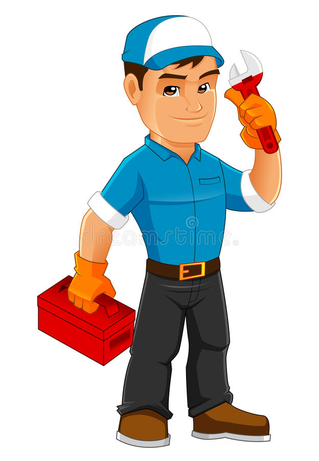 Cool Handyman Mascot royalty free stock image