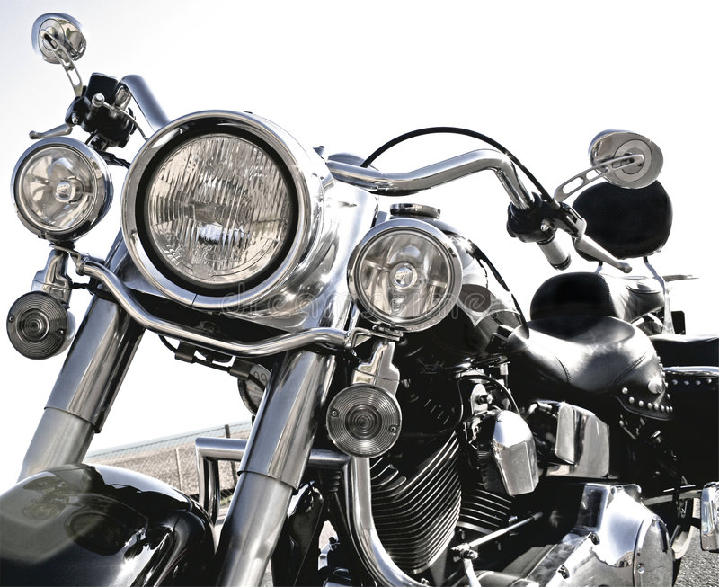 Cool Harley royalty free stock photography