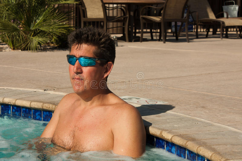 Download Cool in the Hot Tub stock photo. Image of bath, health - 23691884
