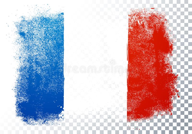Isolated France flag vector icon in brushstroke texture on transparent background vector illustration