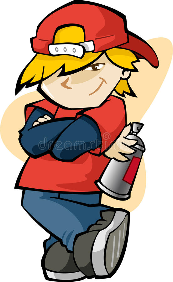 Cool kid stock illustration image 47249666 for Cool life paint cost