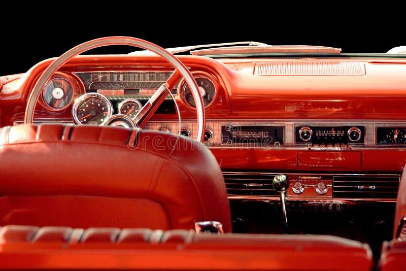 Klasyczny samochód z czerwonym wnętrzem obrazy stock