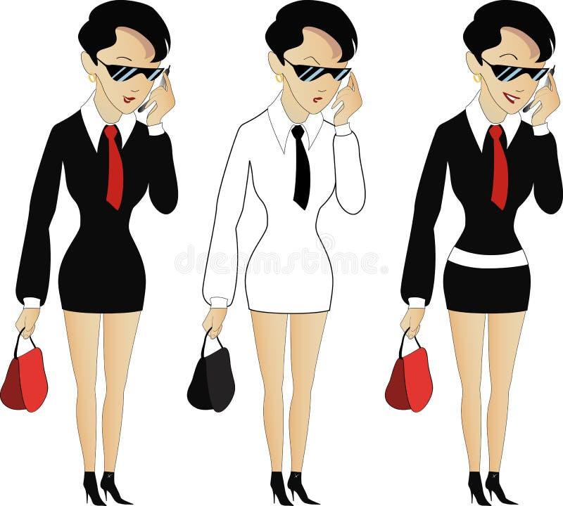 cool kobiet kostiumowych potomstwa ilustracji