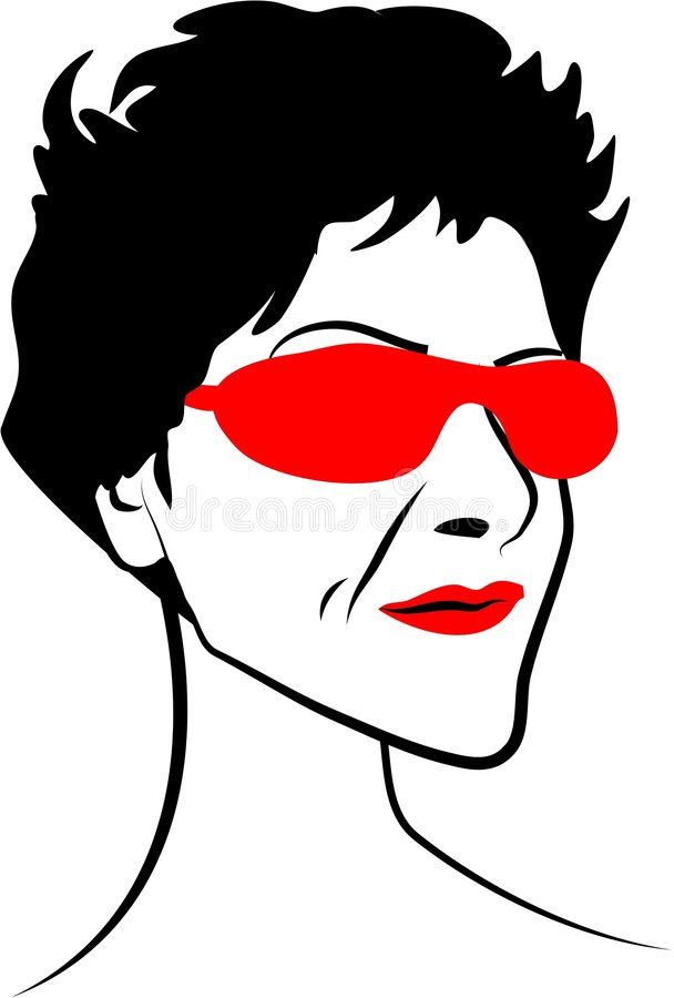 Cool Lady royalty free illustration