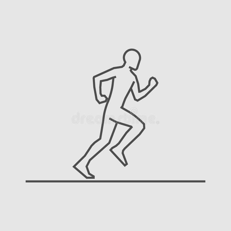 Cool line running icon. royalty free illustration