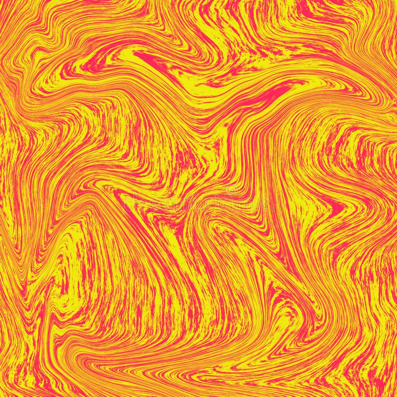Cool liquid marble background. The combination of red and yellow. texture like orange juice, fresh to look at. Liquid digital vector illustration