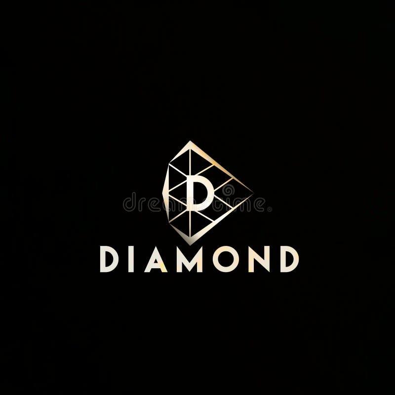 COOL LOGO DESIGN DIAMOND stock illustration