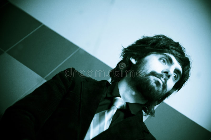 Download Cool Man In Mirror Before Date Stock Photo - Image: 1926550