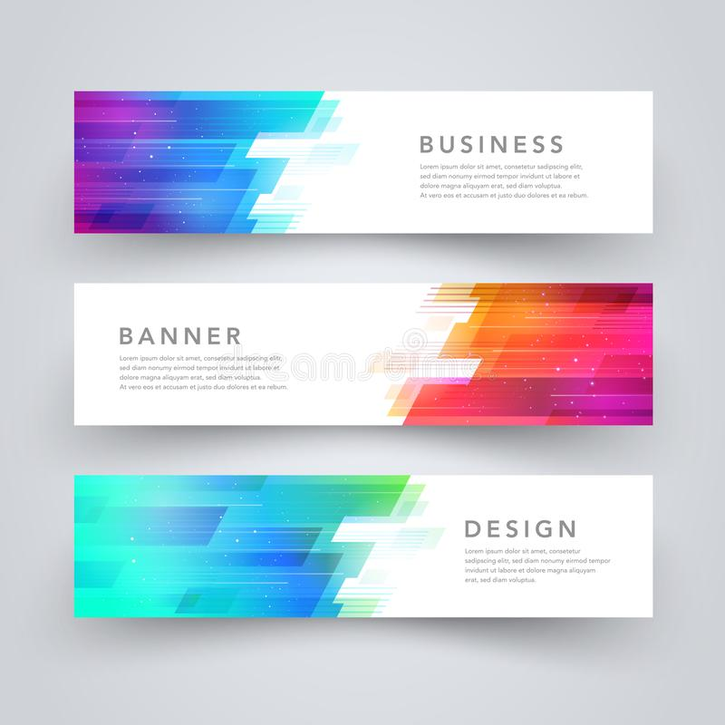 Modern abstract geometric tech design banner template. Vector web element. vector illustration