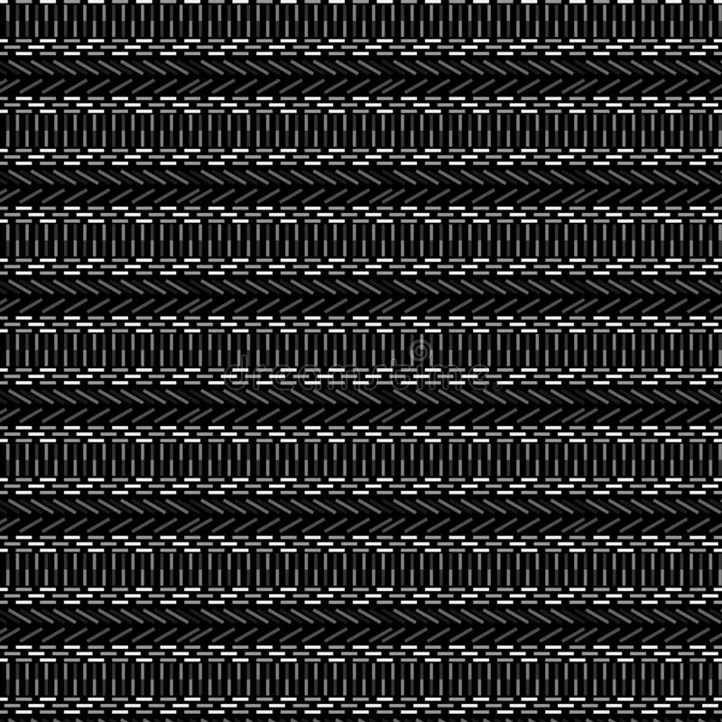 Elegant grey monochromic ethnic geometric seamless pattern royalty free illustration