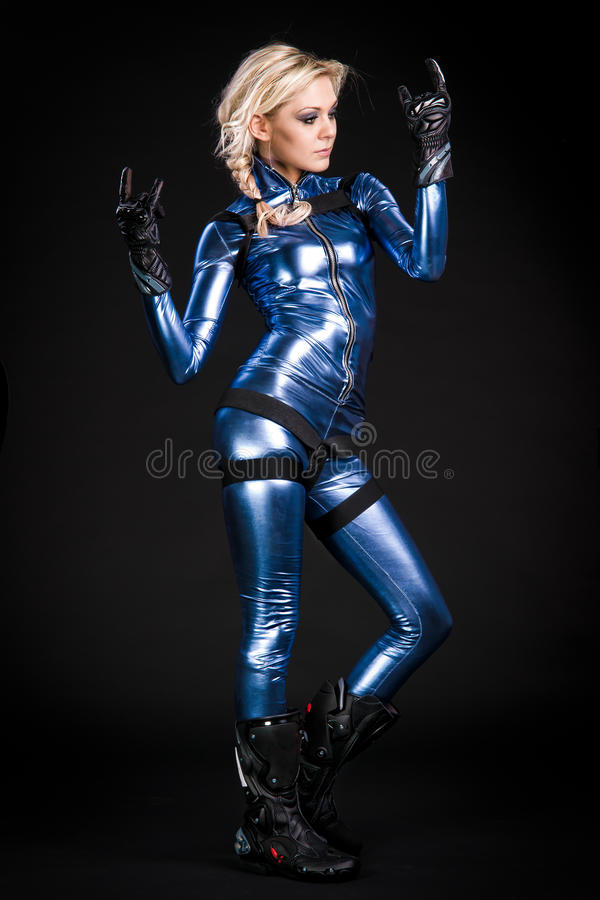 Free Cool Moto Girl Stock Photography - 17730112