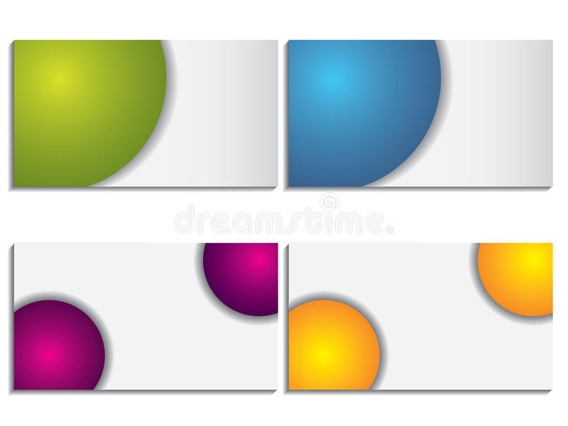 Cool New Business Card Set 5 Royalty Free Stock Photography