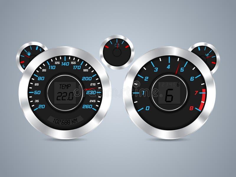 Cool new dashboard design royalty free illustration