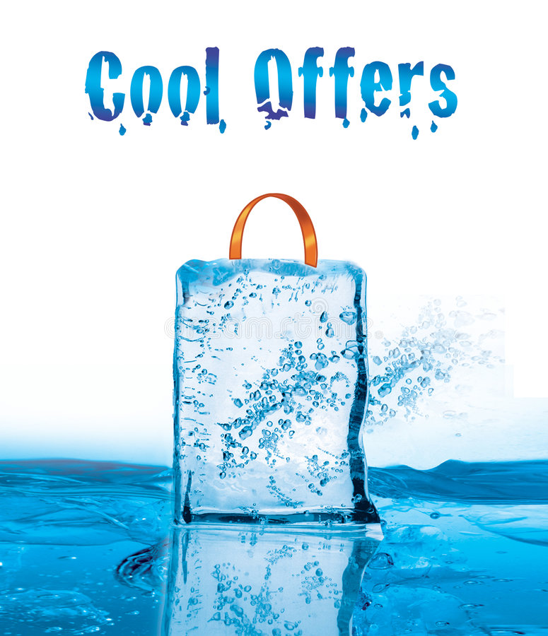 Cool offers for winter sale with icy effect royalty free illustration