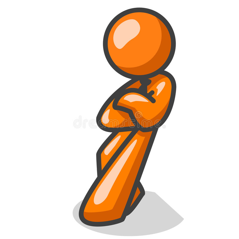 Download Cool orange man standing stock vector. Illustration of illustrated - 3270644