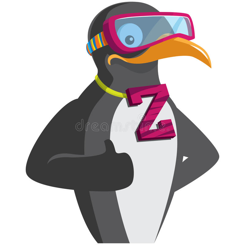 Cool penguin royalty free illustration