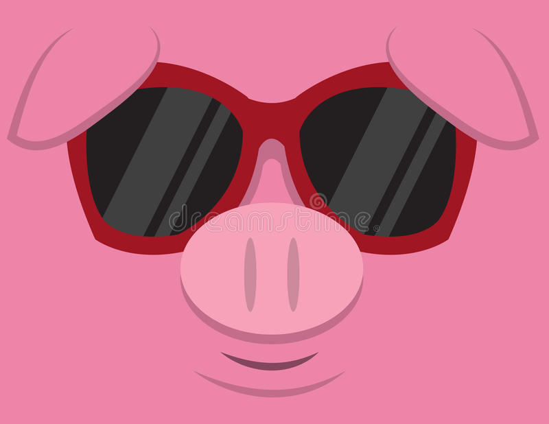 Download Cool Pig Sunglasses stock vector. Image of oink, sweet - 29347454