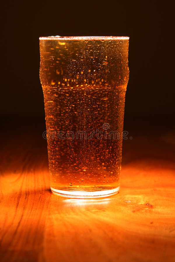 Cool pint of Lager royalty free stock photography