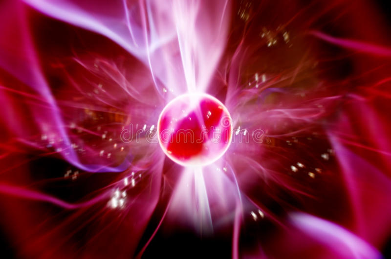 Cool plasma ball stock photo