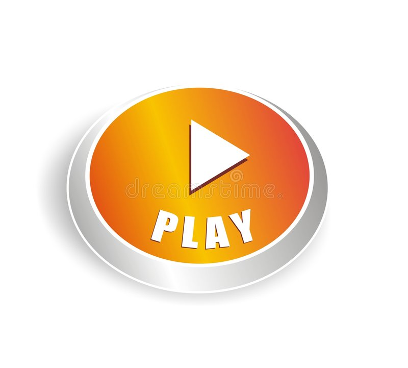 Cool Play Button Stock Photo