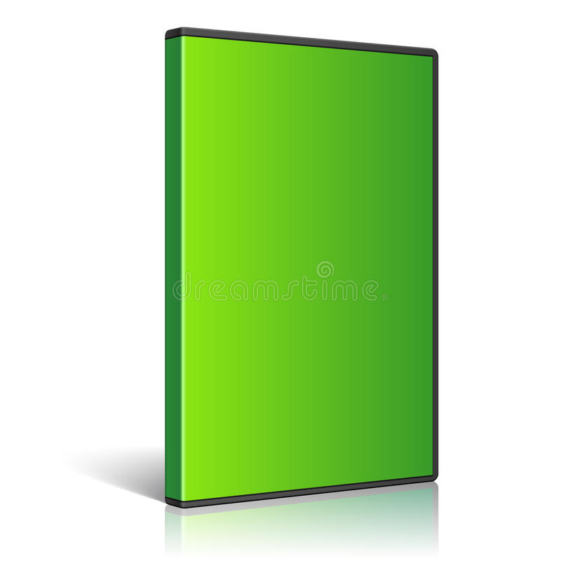 Cool Realistic Case for DVD Or CD Disk. Vector. Realistic Case for DVD Or CD Disk. Green color. Vector Illustration vector illustration