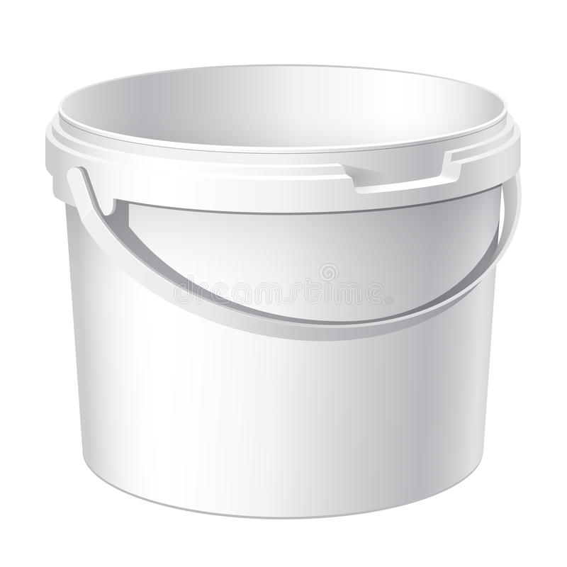 Download Cool Realistic White Plastic Bucket. Vector Stock Vector - Image: 27197849