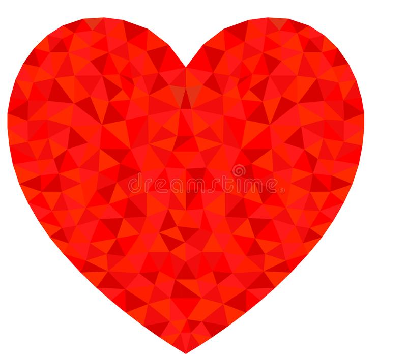 Cool Red Heart. Triangulation style. Red Heart. Triangulation style royalty free illustration
