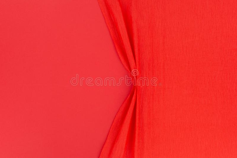A cool, red , wrinkled background royalty free stock image