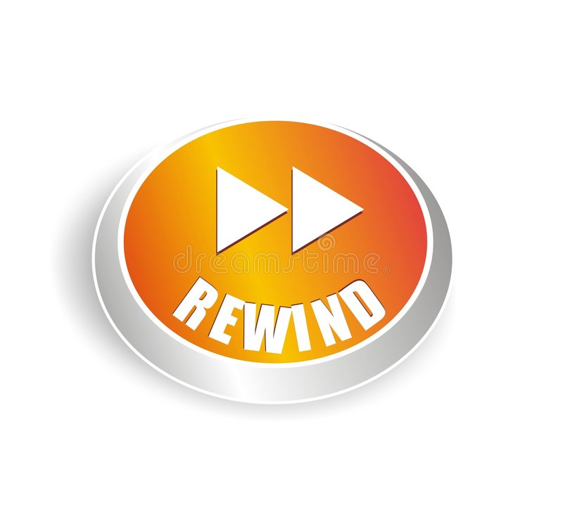 Free Cool Rewind Button Royalty Free Stock Photography - 4739737