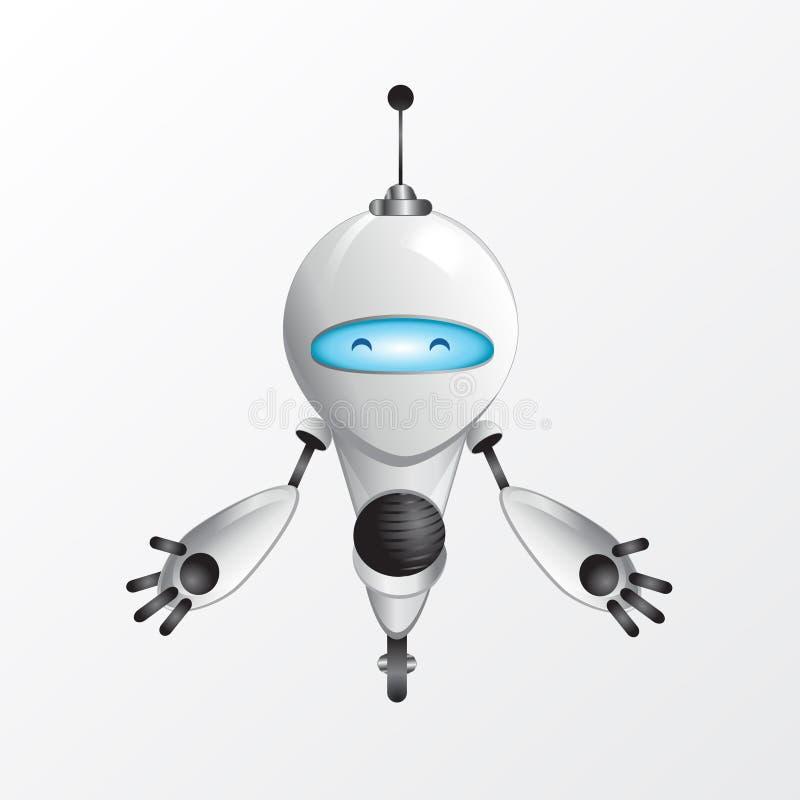 Cool robot illustration stock illustration