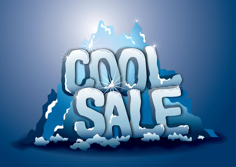 Download Cool sale on iceberg stock vector. Image of background - 21995069
