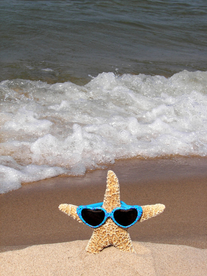 Download Starfish Wearing Heart Sunglasses Stock Photo - Image: 3041304
