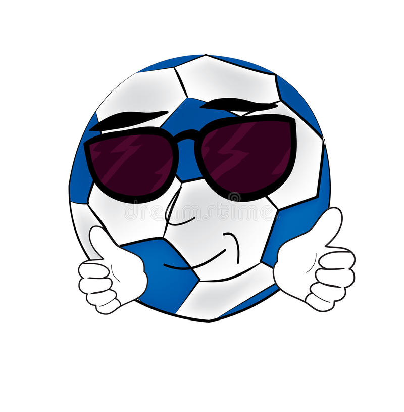 Cool soccer ball cartoon stock illustration illustration of download cool soccer ball cartoon stock illustration illustration of glasses 43151676 voltagebd Images