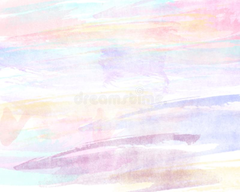 Abstract illustration in pink,purple and green colors on white paper royalty free illustration