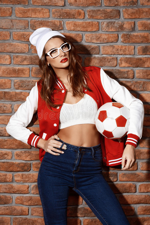 Cool sportive girl stock image