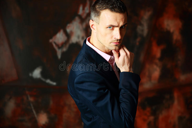 Cool stylish man standing royalty free stock photos
