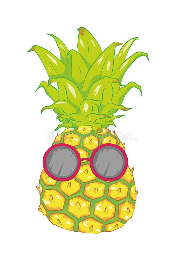 Cool Summer Pineapple stock images
