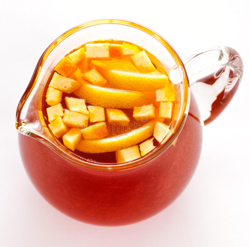 Cool summer tea with lemon