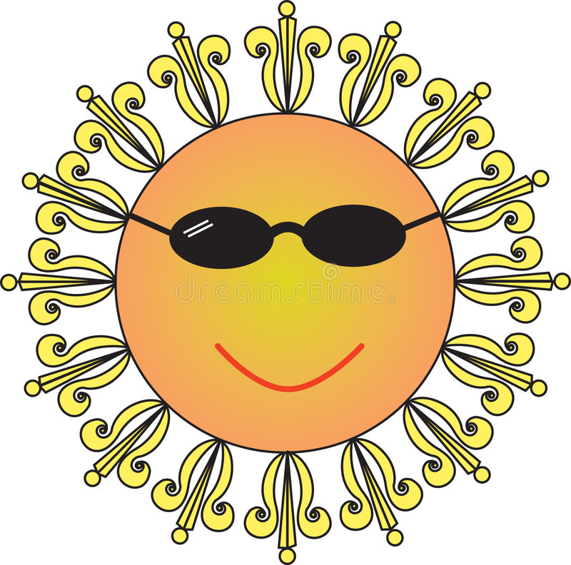 Cool Sun stock photo