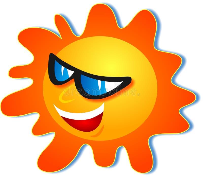 Cool Sun. Wearing sun glasses