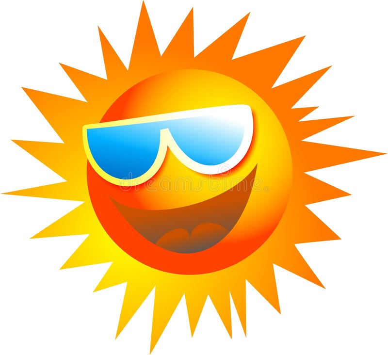 Cool Sun royalty free illustration