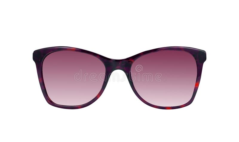 Cool sunglasses isolated on white stock photos