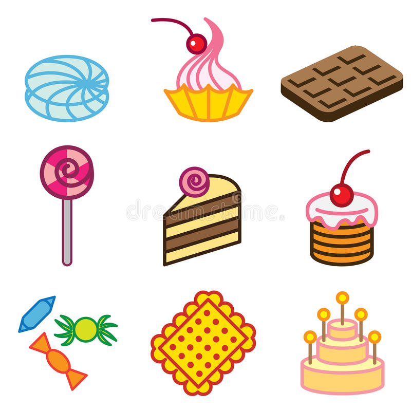 Download Cool sweets icons stock illustration. Image of shape - 24534459