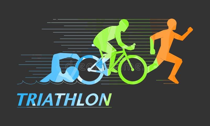 Cool symbol for triathlon stock illustration