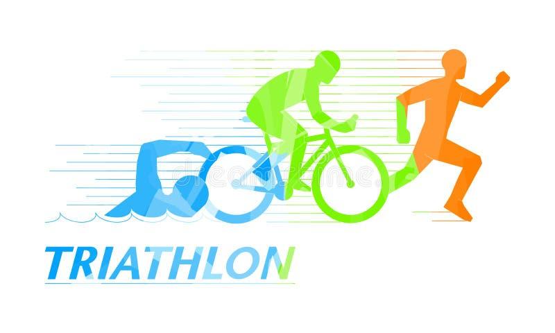 Cool symbol for triathlon. royalty free illustration