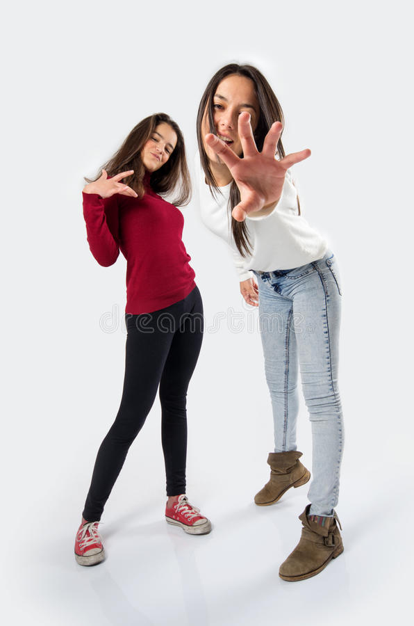 Cool Teen Girls stock photography