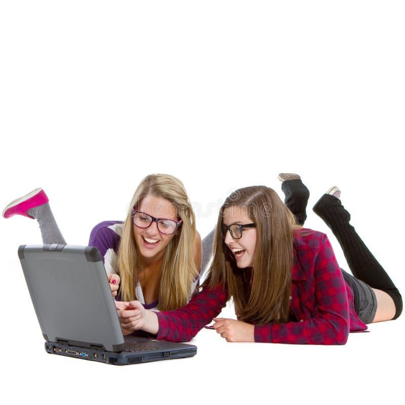 Cool Teenage girls stock photos