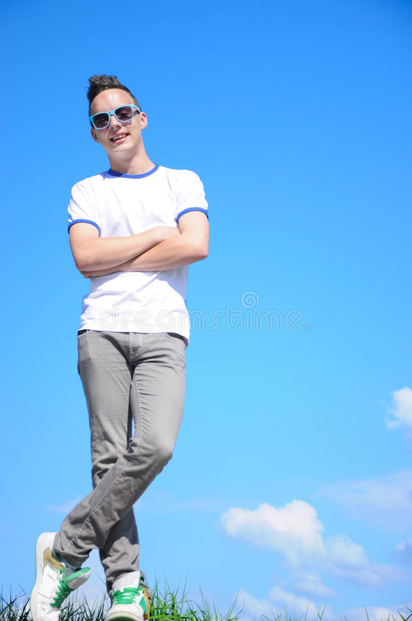 Cool Teenager Royalty Free Stock Photo