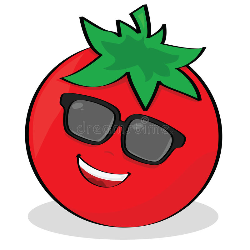 Download Cool tomato stock vector. Illustration of happiness, market - 15245942