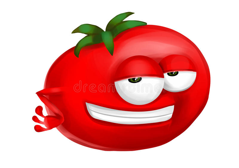 Download Cool tomato stock illustration. Image of face, white - 34270218